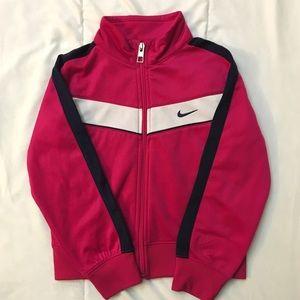 Nike Girls Pink Athletic Jacket size 5